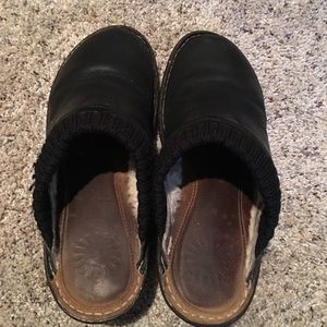 UGG Shoes - Ugg Black Wedge Clogs - Size 9